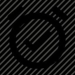 alarm, clock, on icon