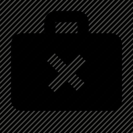 business, case, close, delete, work icon