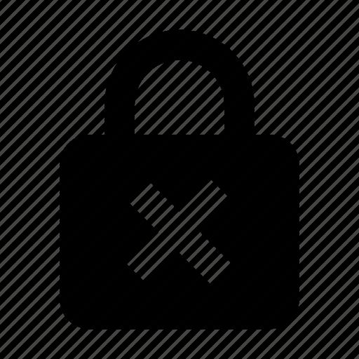 delete, lock, password, unlock icon