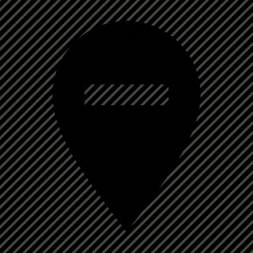 geo, minus, target icon
