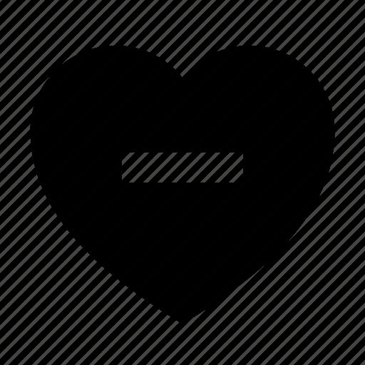 heart, love, minus icon