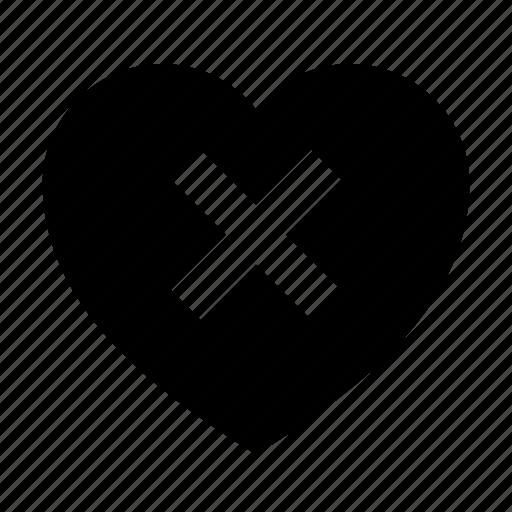broken, delete, love icon