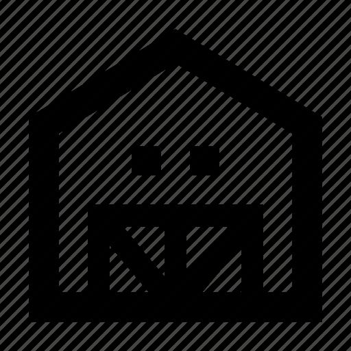 barn, building, farm, storage icon