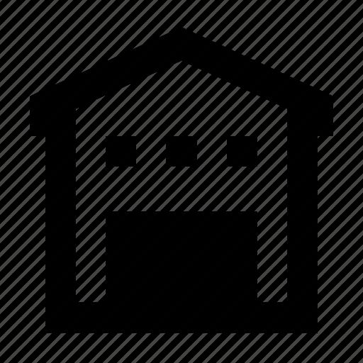 building, empty, storage, warehouse icon