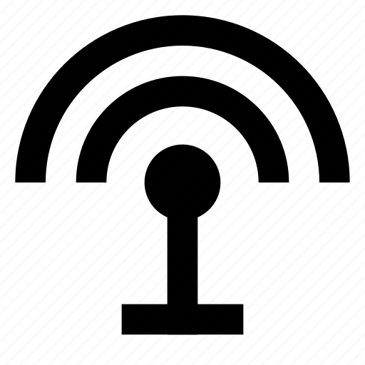 antenna, connection, radio, router, signal, wifi, wireless icon