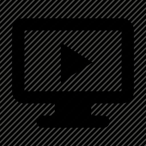 monitor, movie, tv icon