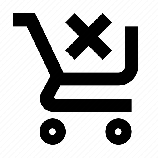 cart, clear, shop icon