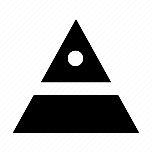 finance, pyramid, statistic icon