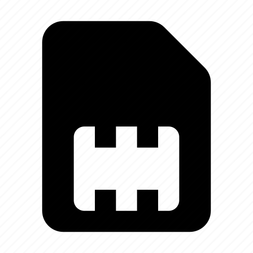 card, mobile, sim icon