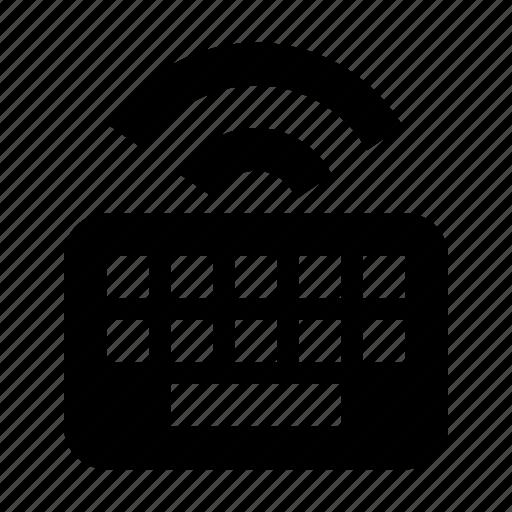 hardware, keyboard, keys, type, wireless icon