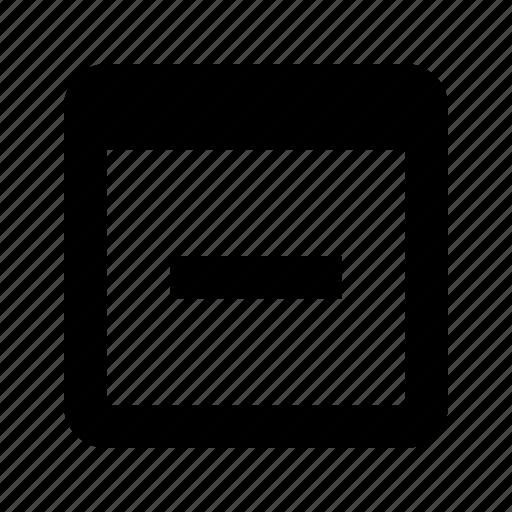 application, close icon