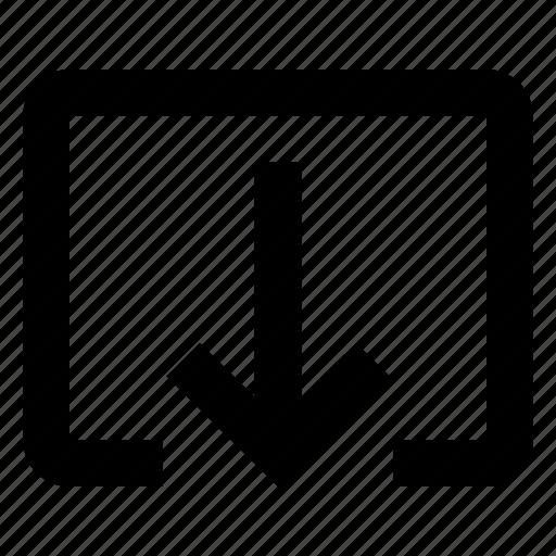 arrow, downlod, export icon