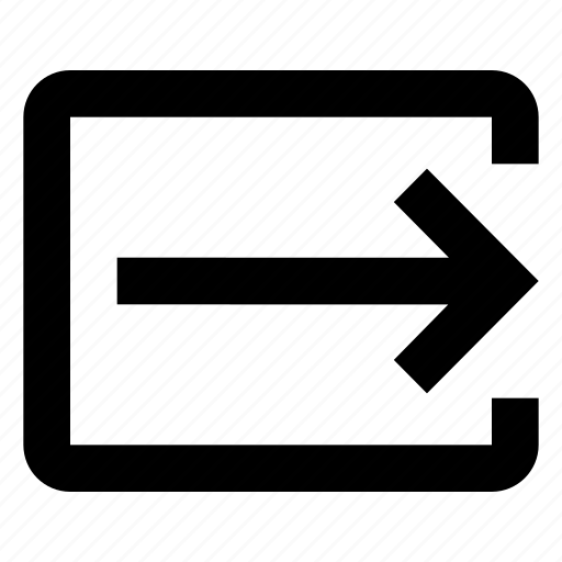 arrow, output, send icon