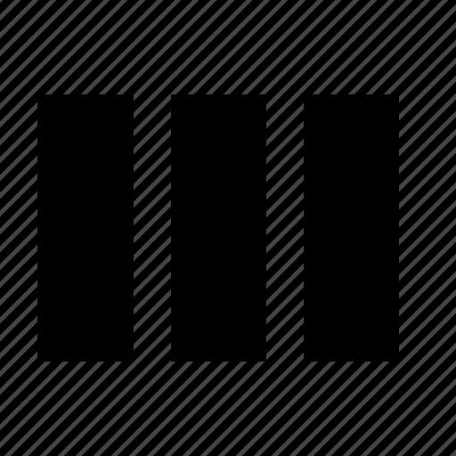 columns, grid, layout icon