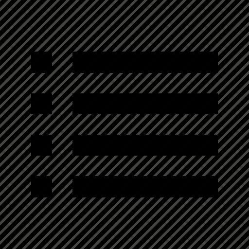 list, paragraph icon