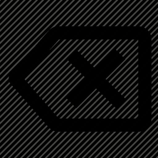 backspace, delete, erase icon