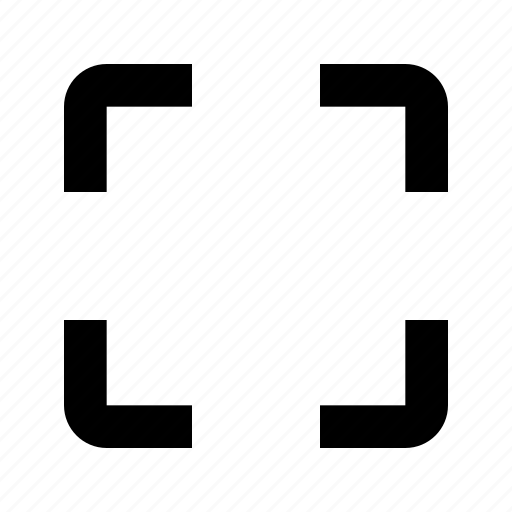 expand, fullscreen, target icon