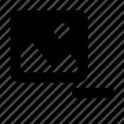 album, delete, gallery, image, photo, picture, remove icon