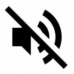 big, lmute, off, sound, volume icon