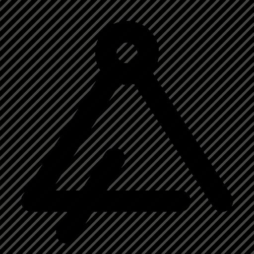 audio, instument, music, sound, triangle icon
