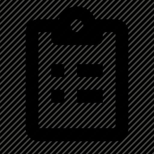 board, buffer, clip, clipboard, report, tasks, todo icon