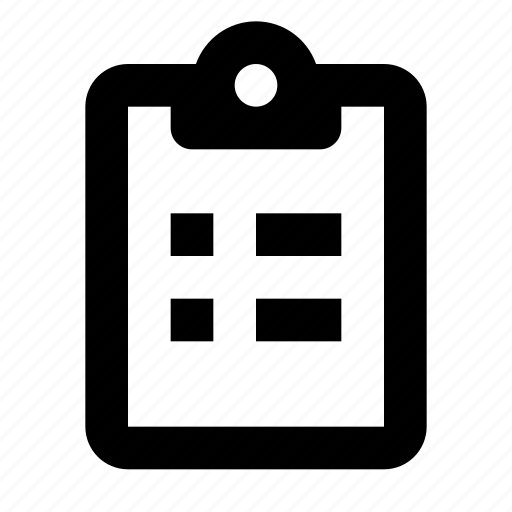 clipboard, report, tasks icon