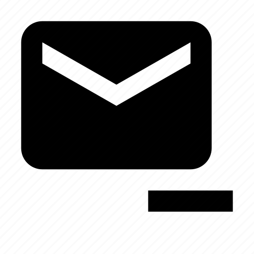 delete, email, message icon