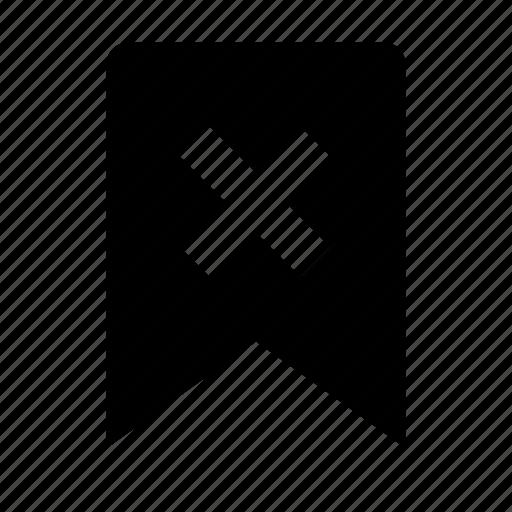 bookmark, delete, favorite, link, mark icon