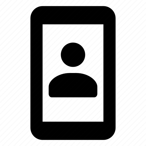 contact, device, mobile, phone, portrait, smartphone, vertical icon