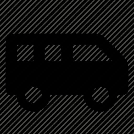 minibus, transport, van icon