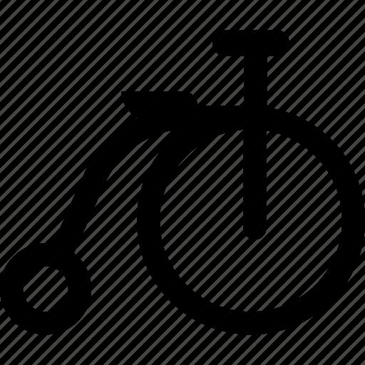bicycle, retro, transport icon