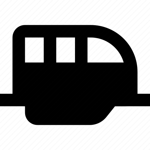 monorail, train, transport icon