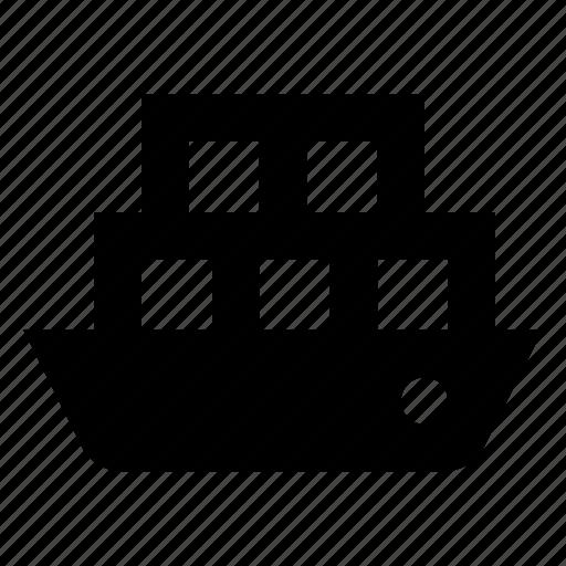 cargo, ship, vessel icon