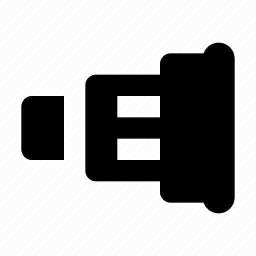 lens, photo, telescope icon