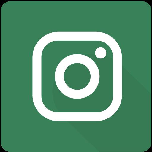 design, image, instagram, material, network, social, square icon