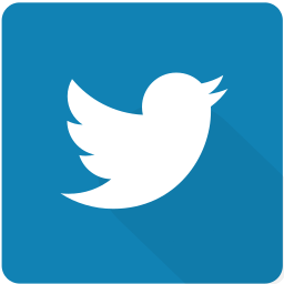 design, material, network, social, square, twitter, website icon