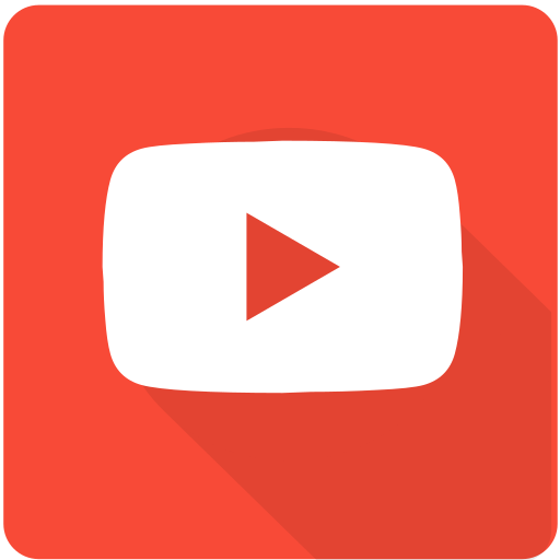 Design, material, youtube, play, square, video, web icon - Free download