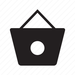 bag, carryings, circle, design, shopping icon