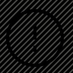 alert, circle, circle alert icon