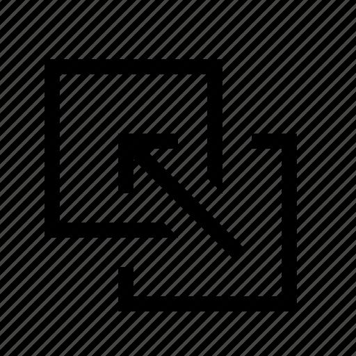 arrange, bring-forward, layer, order icon