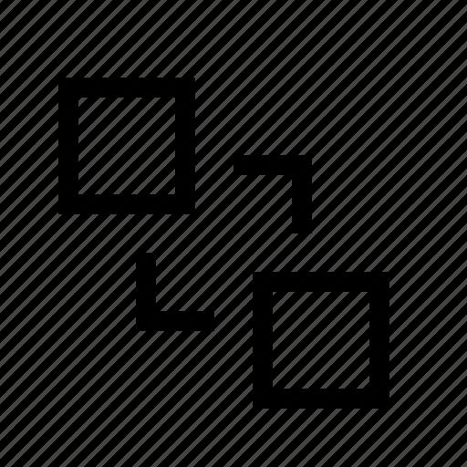 arrange, order, send to back icon