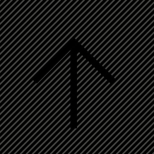 arrow, forward, north, up icon