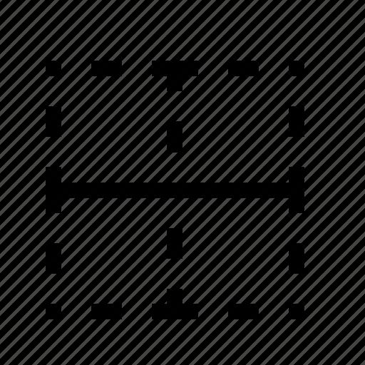 border, border horizontal, horizontal icon