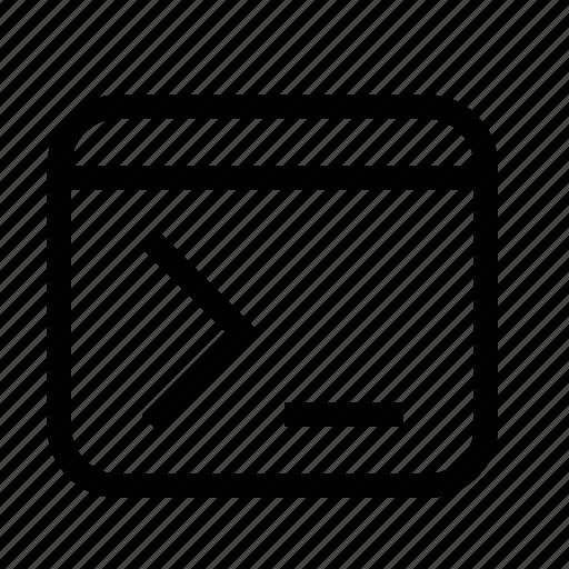 command, console, terminal icon