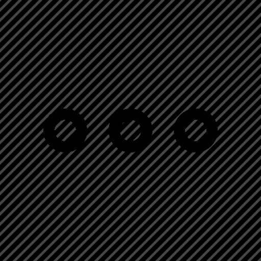 dots, horizontal icon