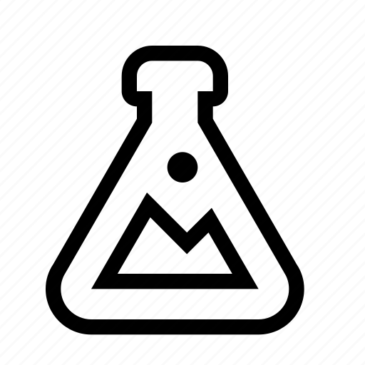 beaker, erlenmeyer flask, flask, lab, research, science icon