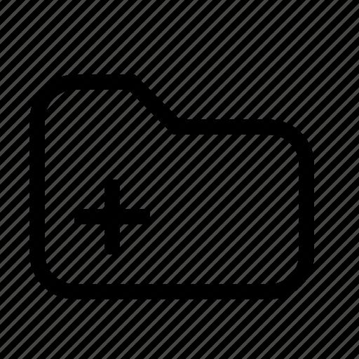 folder, plus icon