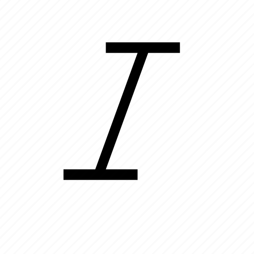 emphasis, format, italic, text icon
