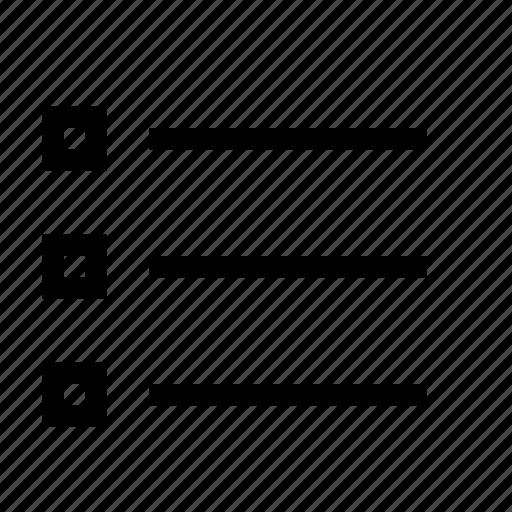 checks, format, list icon