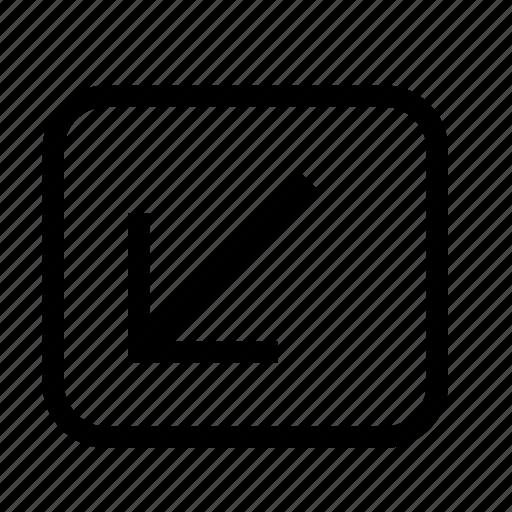 collapse, fullscreen, minimize icon